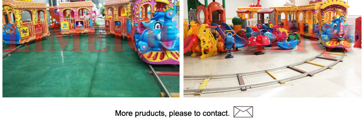 220v Latest cartoon design on 14 kids electric amusement train rides