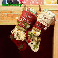 2017 Wholesale Free Sample Hanging Christmas Stocking Sock For Christmas Decor