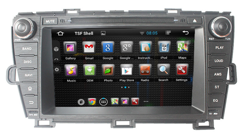 Pure android Toyota prius 2009-2013 car radio gps with DVD BT Radio TV GPS 3G Wifi android! Good quality!