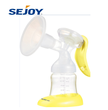 Efficient Suction Soft Silicone Portable Manual Breast Milk Pump