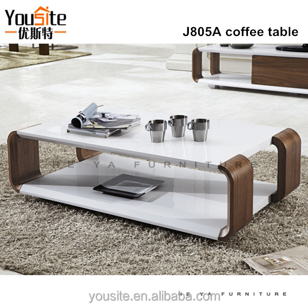 White Walnut Coffee Table: Wooden Furniture Designs White Walnut Coffee Table J805a