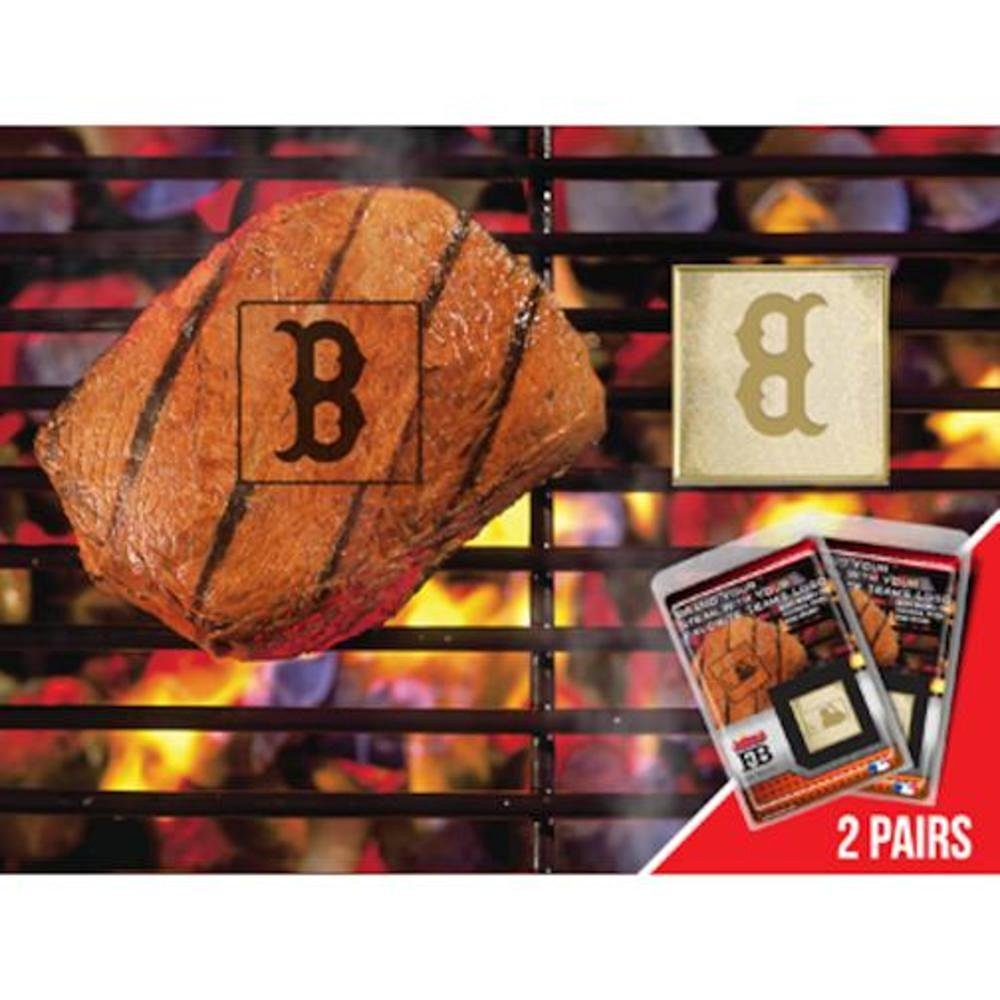 FANMATS MLB Boston Red Sox Metal-Alloy 2-Pack FanBrands