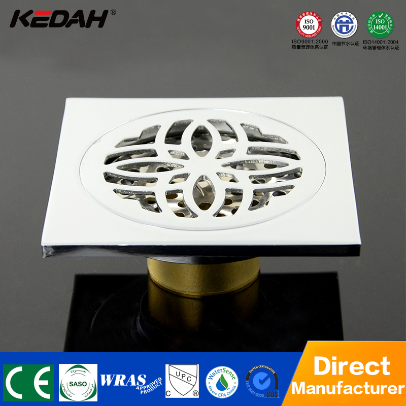 Square brass floor drains shower room waste water floor drain