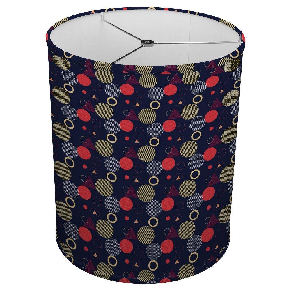 "Hardback Linen Drum Cylinder Lamp Shade 8"" x 8"" x11"" Spider Construction [ 80'S Style ]"