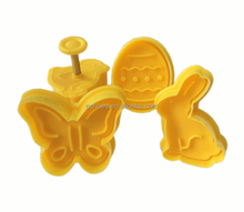 Easter day different shapes plastic spring biscuit cooking stamp cookie cutter