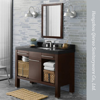 Qierao 42 Inch Modern Marble Top Brown