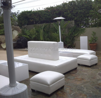 Modern Lounge Furniture Event Double Sided White Wedding Lounge Sofa