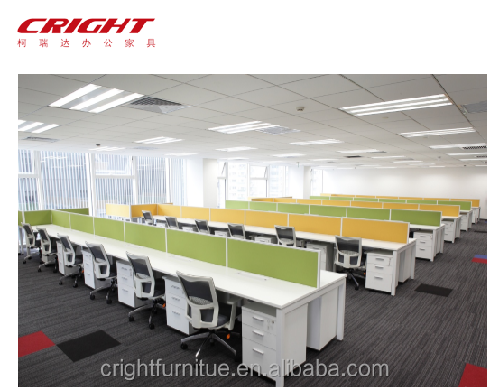 Office furniture open office staff desk high quality office workstation cubical for 4 /6 person