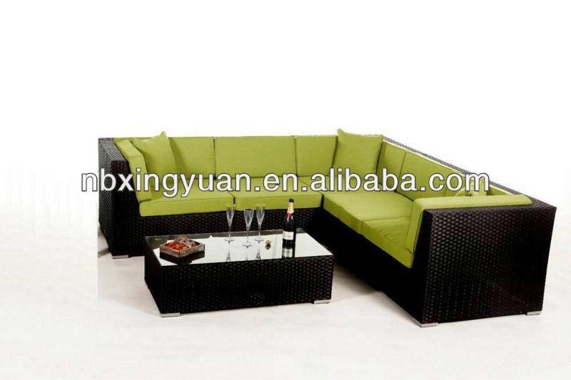 Baratos sofá seccional/en forma de l sofá de/ratán muebles para el ...