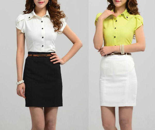 Office Skirts And Blouses For Women Formal Blouse Designs - Buy ...