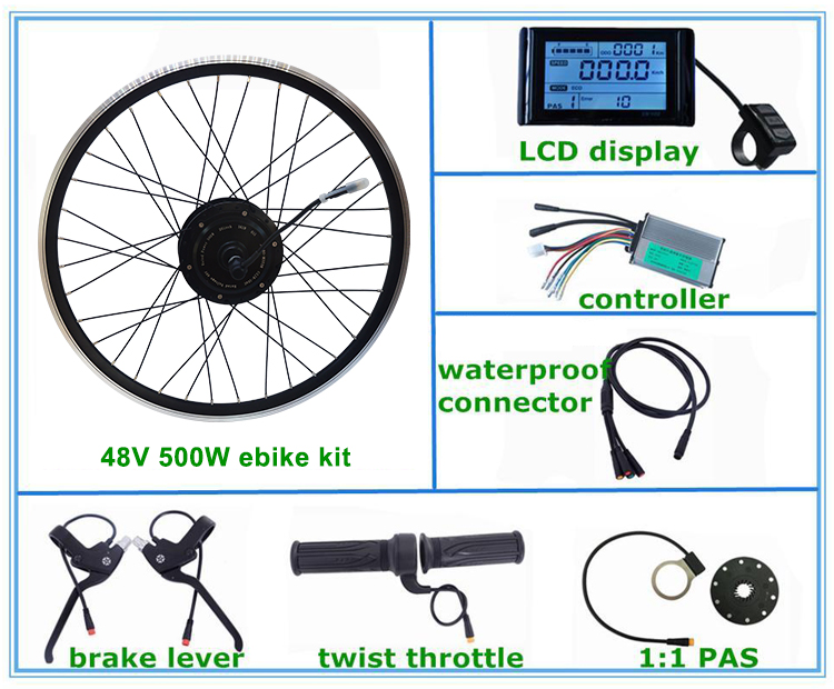 CZJB-104C 48v 500w e bike rear wheel motor conversion kit