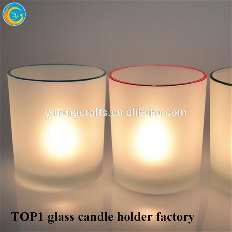 Candlestick Holder Type and Home Decoration Use glass candle holder with lid