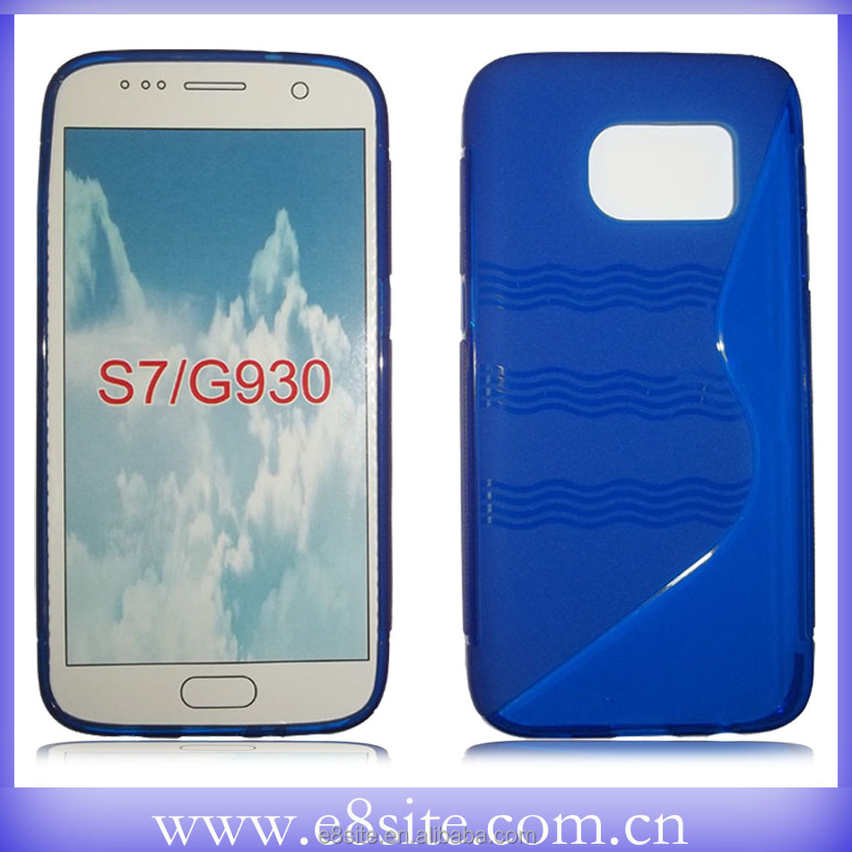 For SamSung Galaxy S7 G930F Cell Phone S Wave Rubber Cover