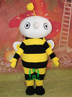 HI CE adult size custom plush bee mascot costume ,professional cartoon character costume for party
