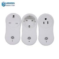 2018 UEMON Smart home hot sales wifi smart socket plug with USB charger slot