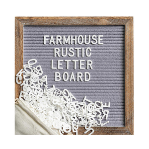 10*10'' Decorative bulletin message memo notice felt letter board with wooden frame