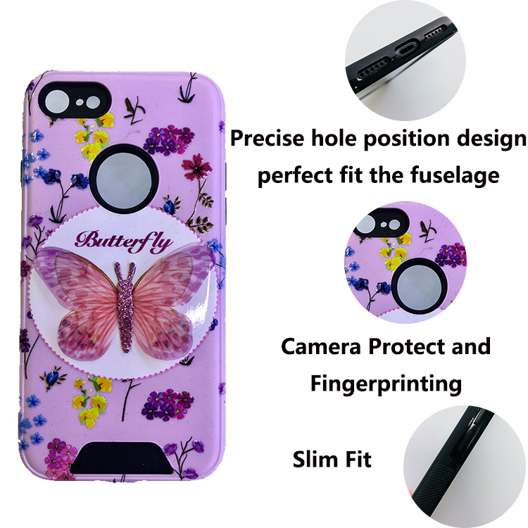 TPU+PC Custom Cheap Printed Shockproof Pc Mobile Phone Back Case Cover