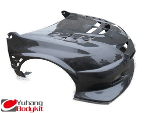 EVO 8 9 FRONT BUMPER VC STYLE CARBON FIBER FRONT BUMPER With Bonnet and Front Fender Combined Set
