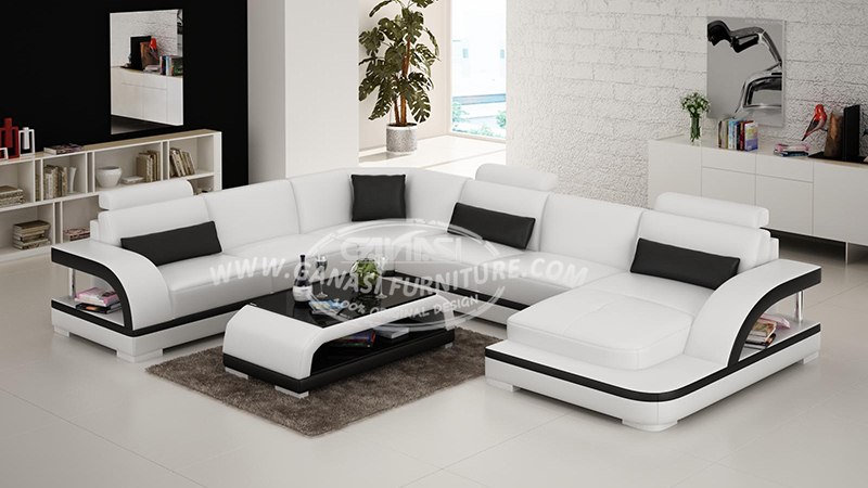 Round leather sofa set divan chaise longue home furniture for Really cheap living room furniture