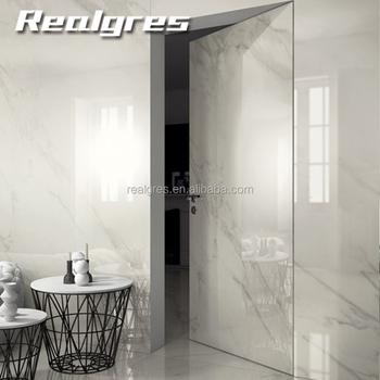 Large Size Porcelain Thin Wall Tile Rectangular White Bathroom Slim