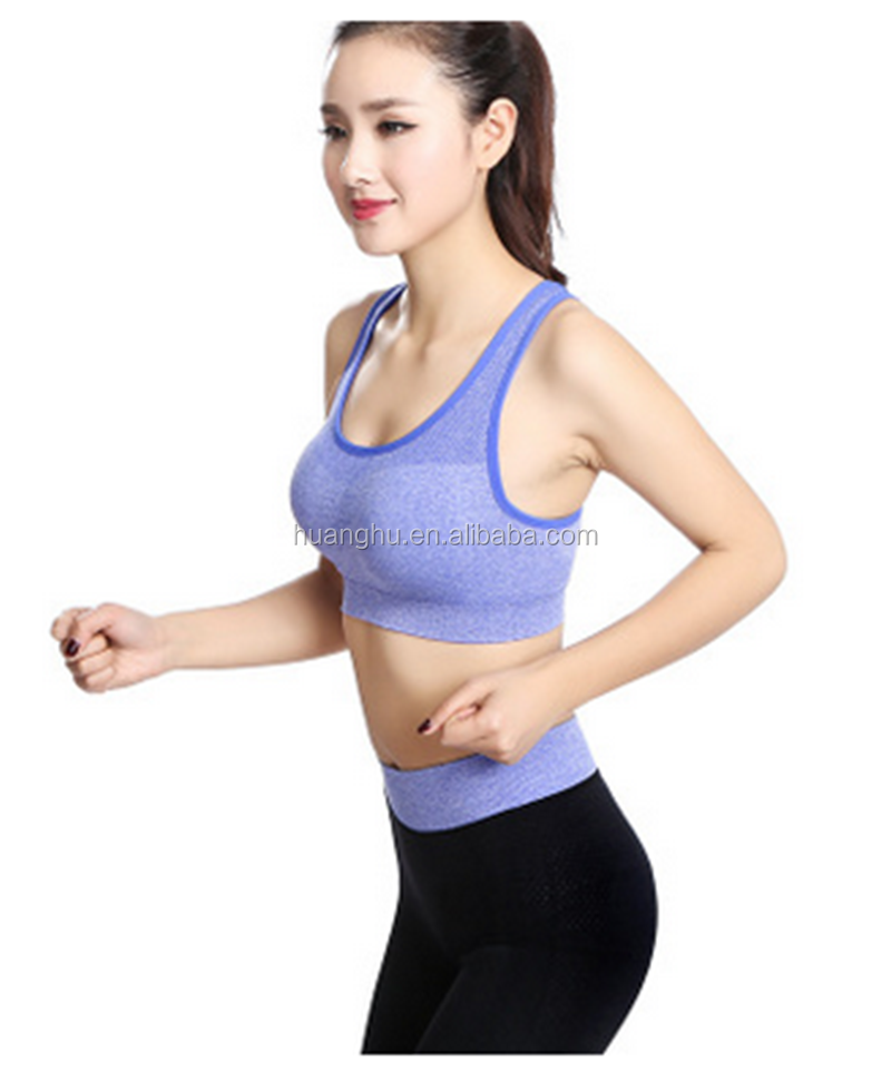 c0647ede7 Women Fitness Sexy Yoga Sports Bra for Running Sports Gym Athletic Top Bra  Breathable Padded Stretch
