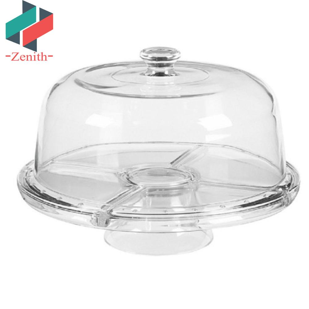 Multifunctional Serving Platter... European Cake Stand with Dome 6-in-1 Design