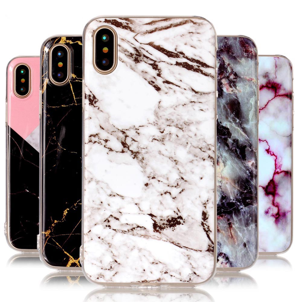 For IPhone 8 Case Marble Soft TPU Image Paint Granite Stone 7plus