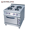 Cooking Range 900 Series stainless steel Electric 4-Plate Cooker With Oven