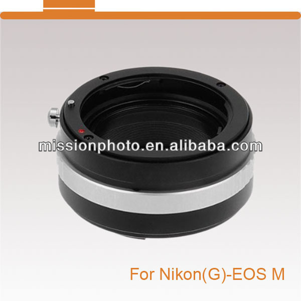 Lens Adapter for Nikon G mount to EOS(M) camera body
