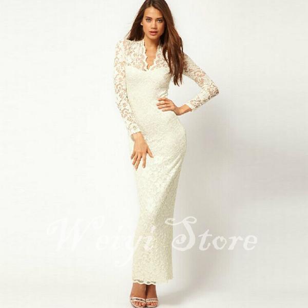 e1f9cadc440 Get Quotations · Woman Clothes Long Sleeve Dresses Sexy Plus Size Bodycon  Long Dress Women Lace Dress Vintage Maxi