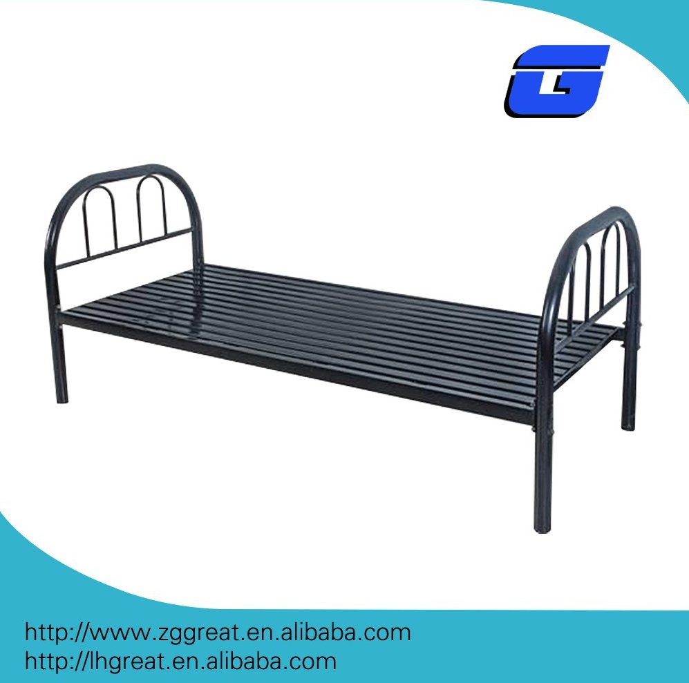 high quality single metal and double bed with school /home/single folding metal bed