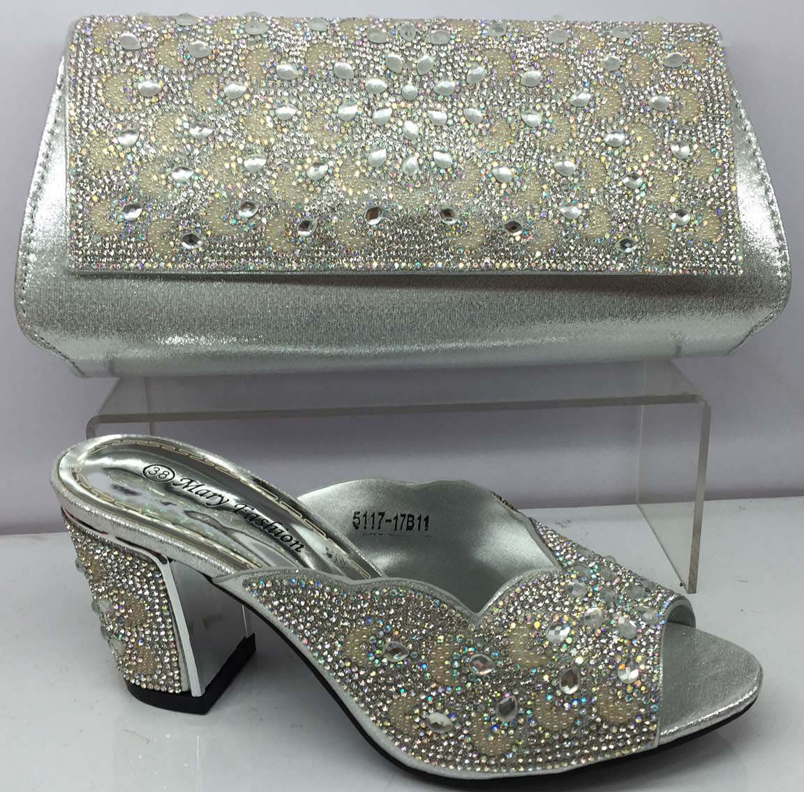 with set shoes matching nice Women Italian and designer bags rhinestones bag UqfItA