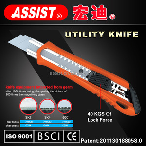 Hand tools office pocket ABS 18mm steel professional cutter utility knife folding utility knife