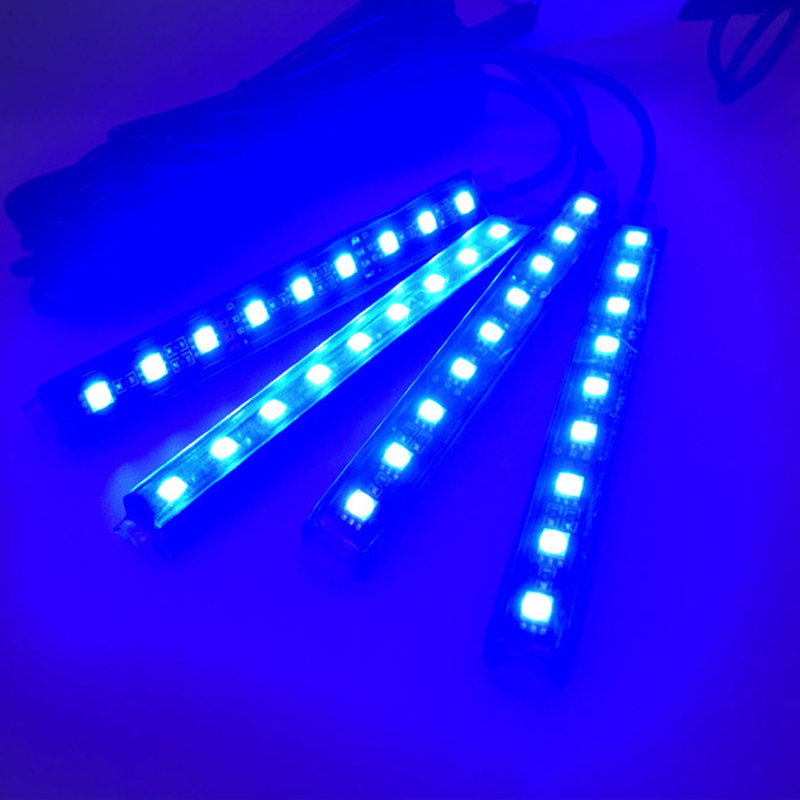 Car lamp RGB colorful atmosphere light foot led light cube seat 9led Remote music voice control led lights APP light