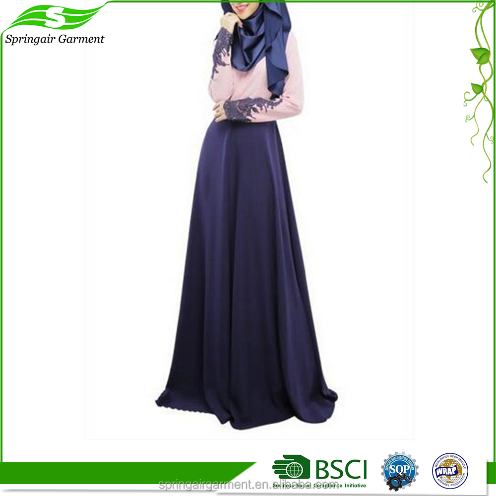 Factory Supplier Islamic Clothing New Model Abaya In Dubai Muslim Maxi Dress