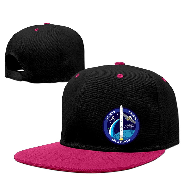 Buy Kualday SpaceX Logo BLUE Plain Adjustable Snapback Hats