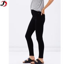 women customized logo jeans pants high waist Spray black wash slim fit Jeans