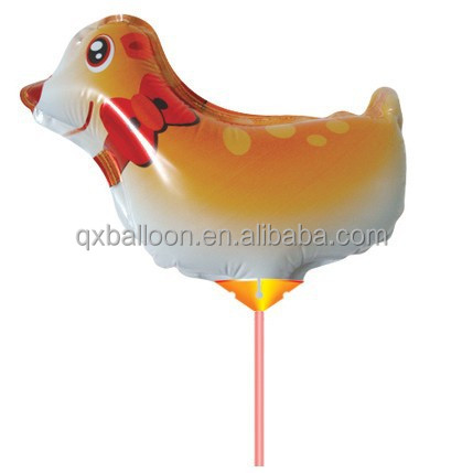 Advertising small balloon with cup stick
