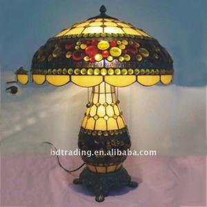 Bedroom decorative Flower pattern modern style Tiffany Table Lamp
