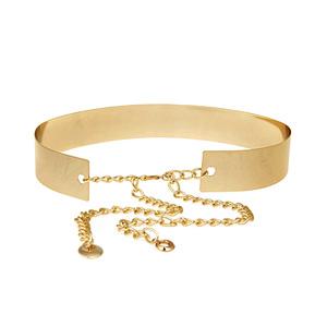 Golden metal stock women gold silver waist belt
