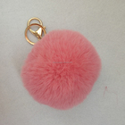 cheap fur accessory faux fake fur pom poms rabbit fur ball keychain
