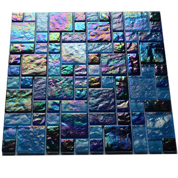 Factory Price Iridescent Gl Mosaic Tile For Kitchen Backsplash Bathroom Swimming Pool