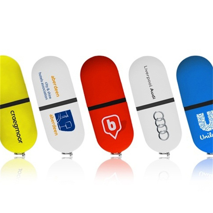Plastic Oval Custom Logo Usb Flash Drive 16gb Cheap Bulk for Mobile Phone
