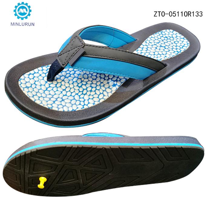 82d1fa425fd060 Outdoor Beach Walk EVA Foam Sole PU Fabric Strap Sandals Men Slippers