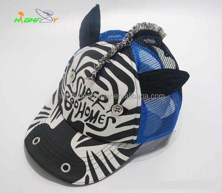 6cdbc494c7321 Zebra style children's baseball cap, kids hats to decorate,crazy hats for  kids