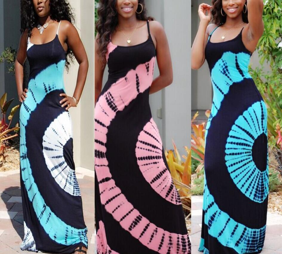 M693 D.Y fashion 2016 wholesale new dresses for women tie dye african clothing women long dress