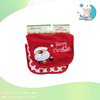 2PCS cute Santa Claus christmas baby 2 ply bibs