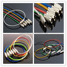 Adjustable Stainless Steel Wired Cable Keyrings Colorful Keyring Rope with Screw Connecter