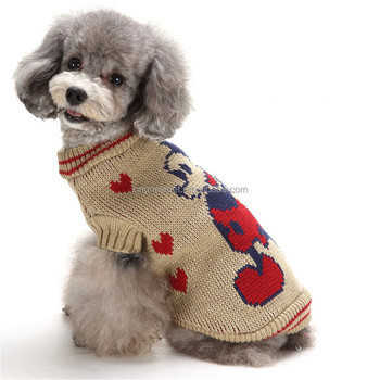 Crochet Mickey Mouse Pattern Pet Dog Sweater Puppy Clothes For Cheap