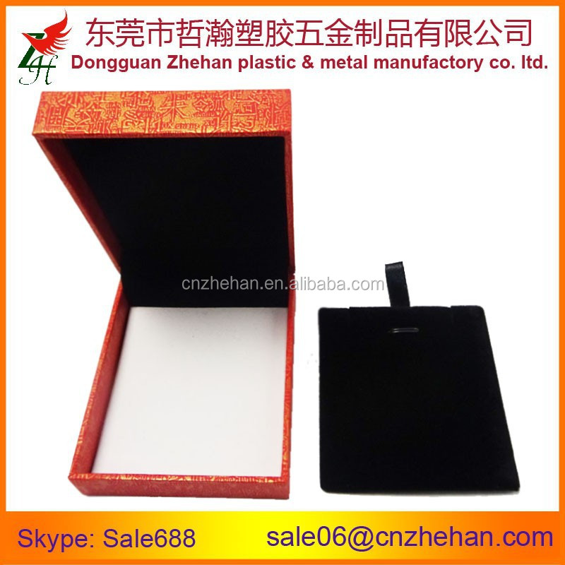Cheap plastic coated leatherette necklace box